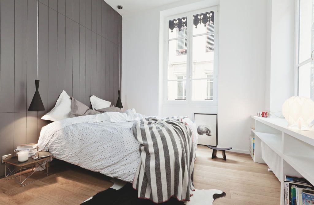 Дизайн спальни 18 кв м серый