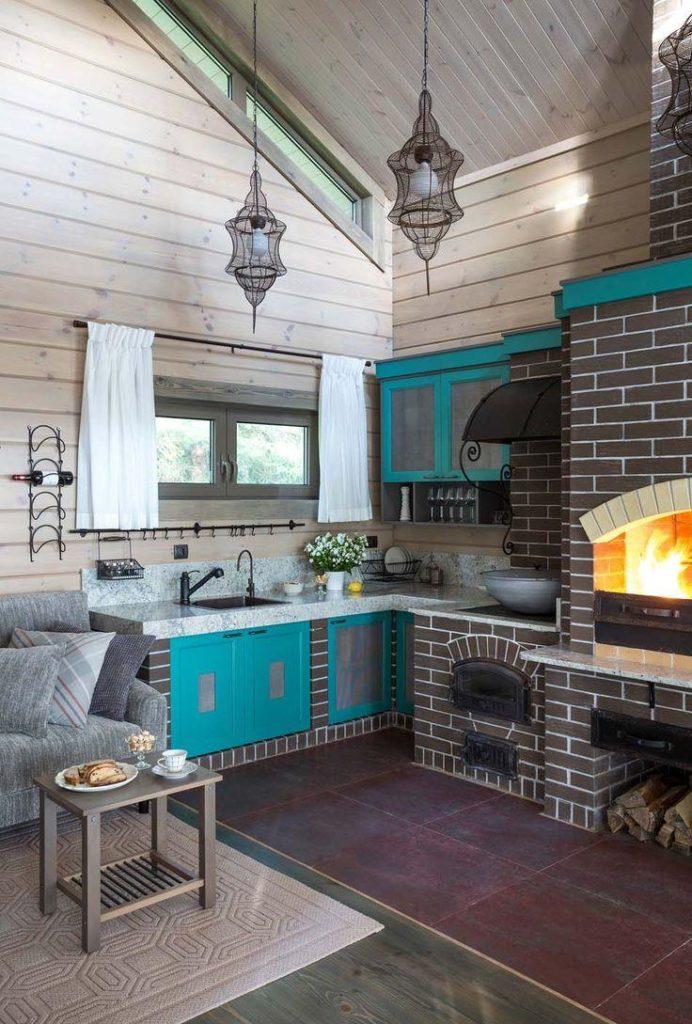 странно, интерьер кухни с русской печью в частном доме фото любимая ферма