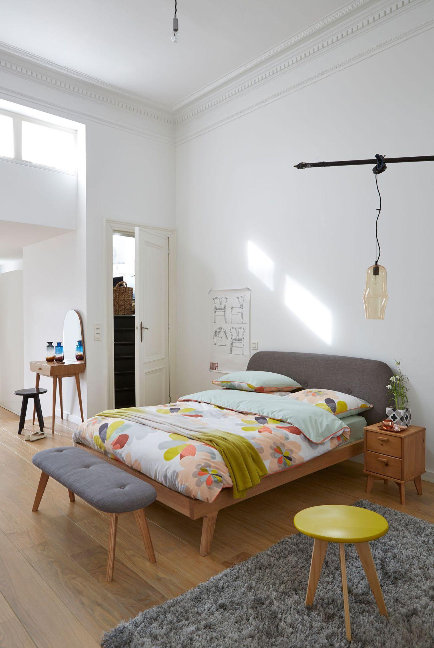 Дизайн спальни 18 кв м в стиле ретро