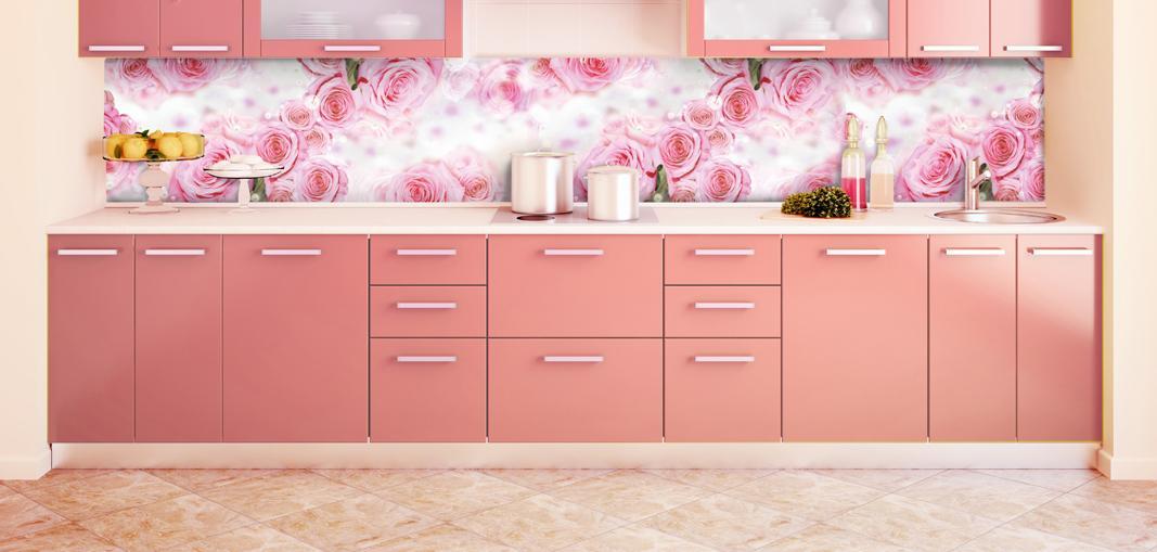 Кухонный фартук с розами