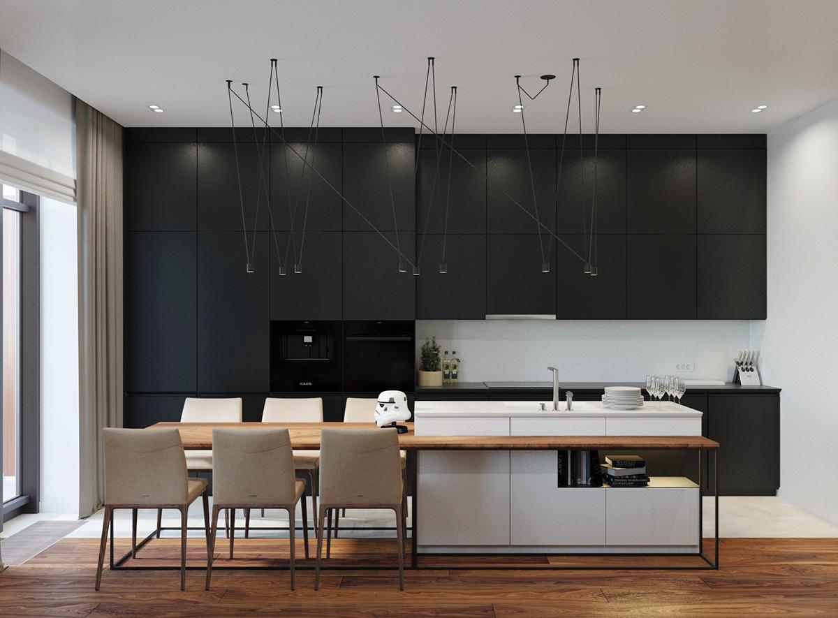 Кухня модульная в частном доме