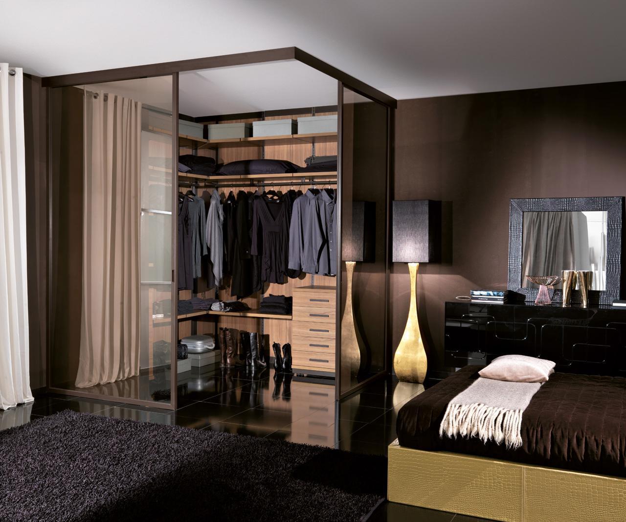 Дизайн спальни 20 кв м в современном стиле, гардеробная в ... Дизайн Спальни С Угловой Гардеробной