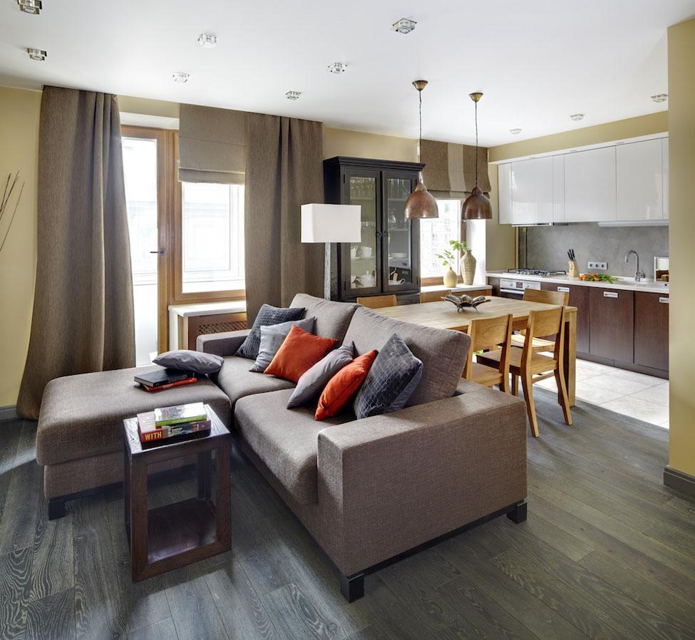 Обстановка однокомнатной квартиры планировка