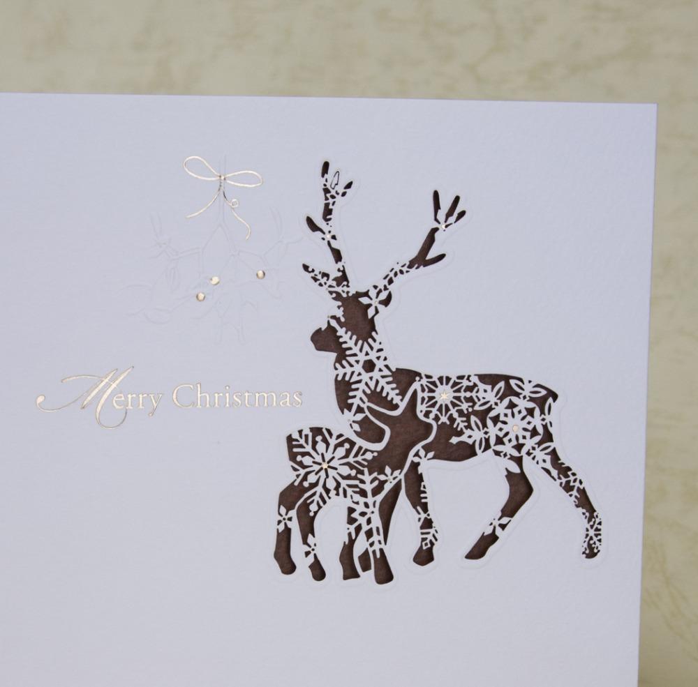 Новогодняя открытка со снежинками