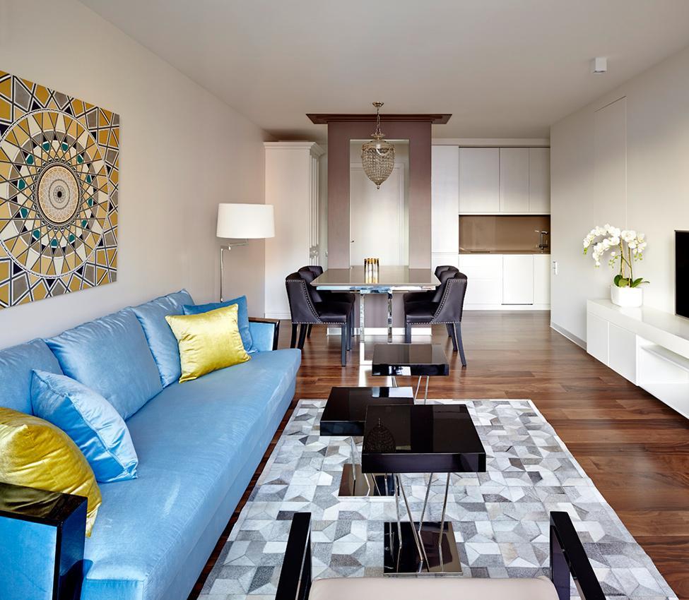 Обстановка однокомнатной квартиры 2017