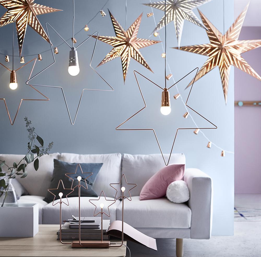 Новогодний декор квартиры звездами