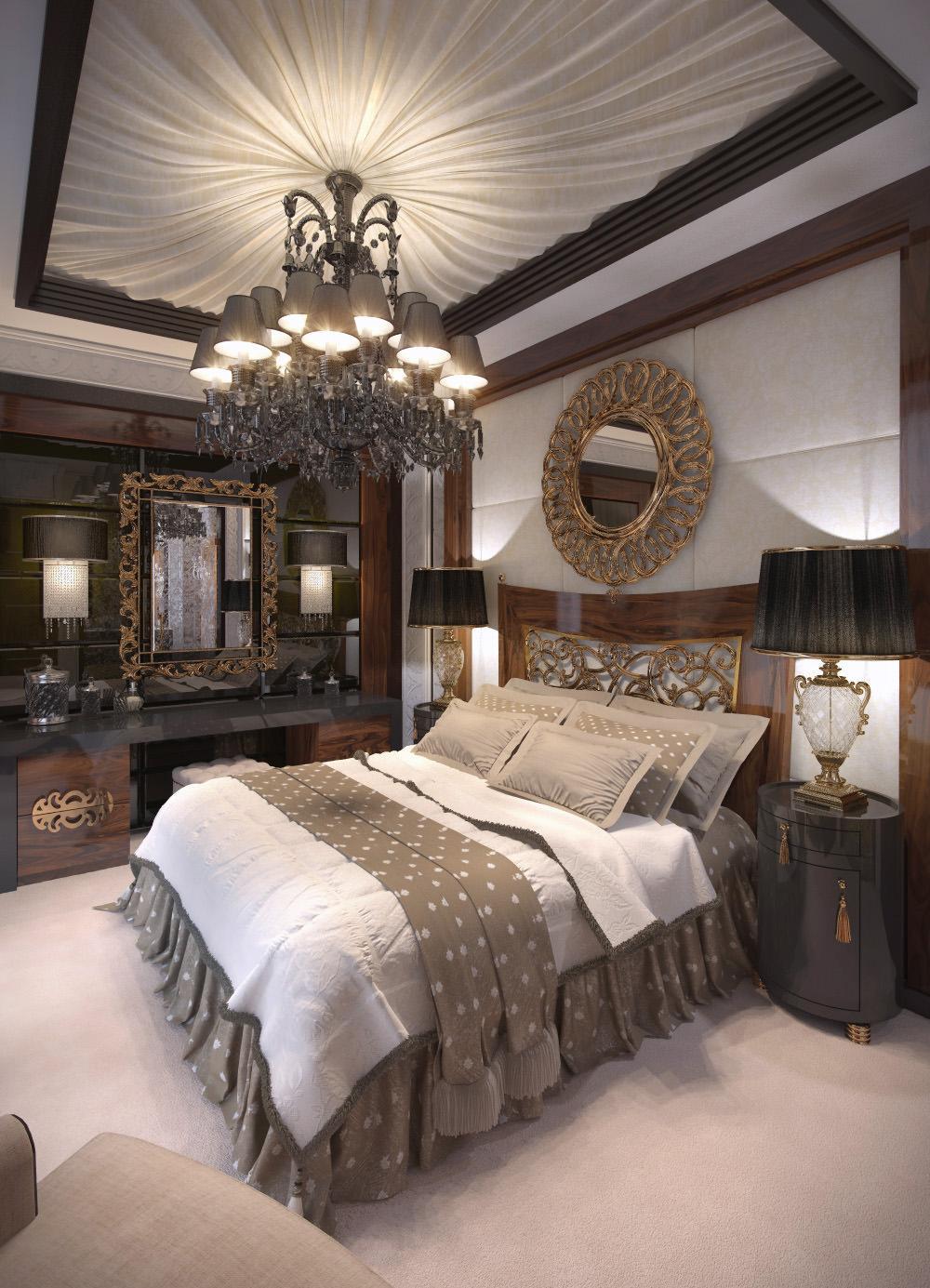 Бежевый ковролин в спальне