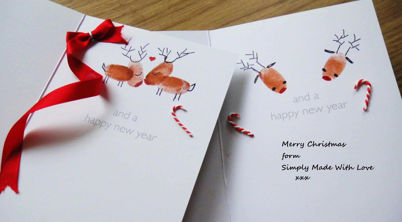 Новогодняя открытка простая