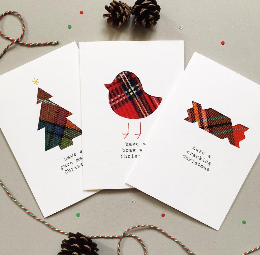 Новогодняя открытка с простым дизайном