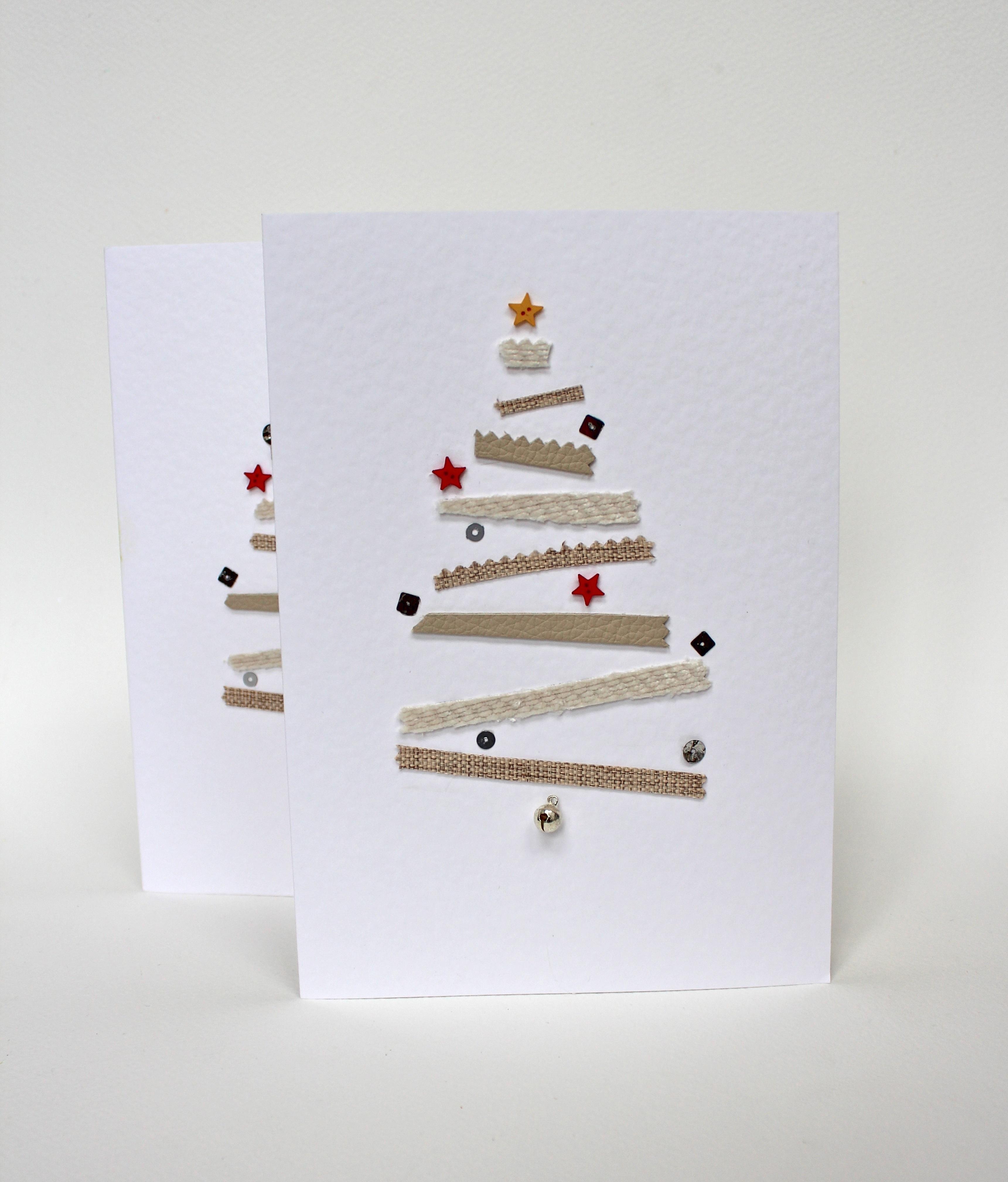 Новогодняя открытка из кусочков