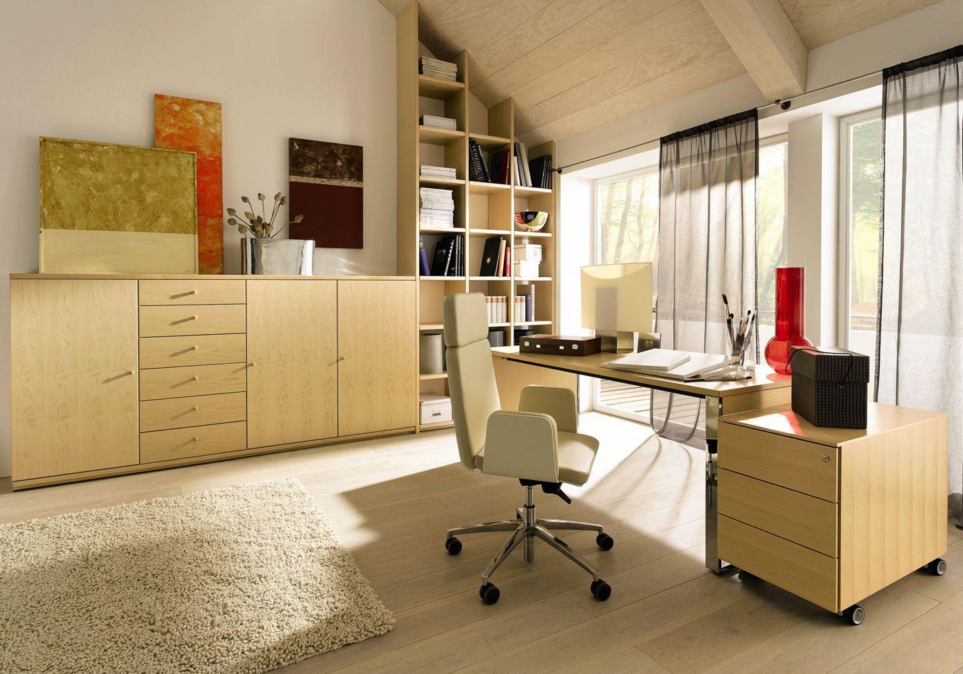 Дизайн интерьера кабинета руководителя светлый