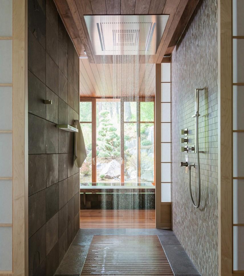 Просторный душ без поддона