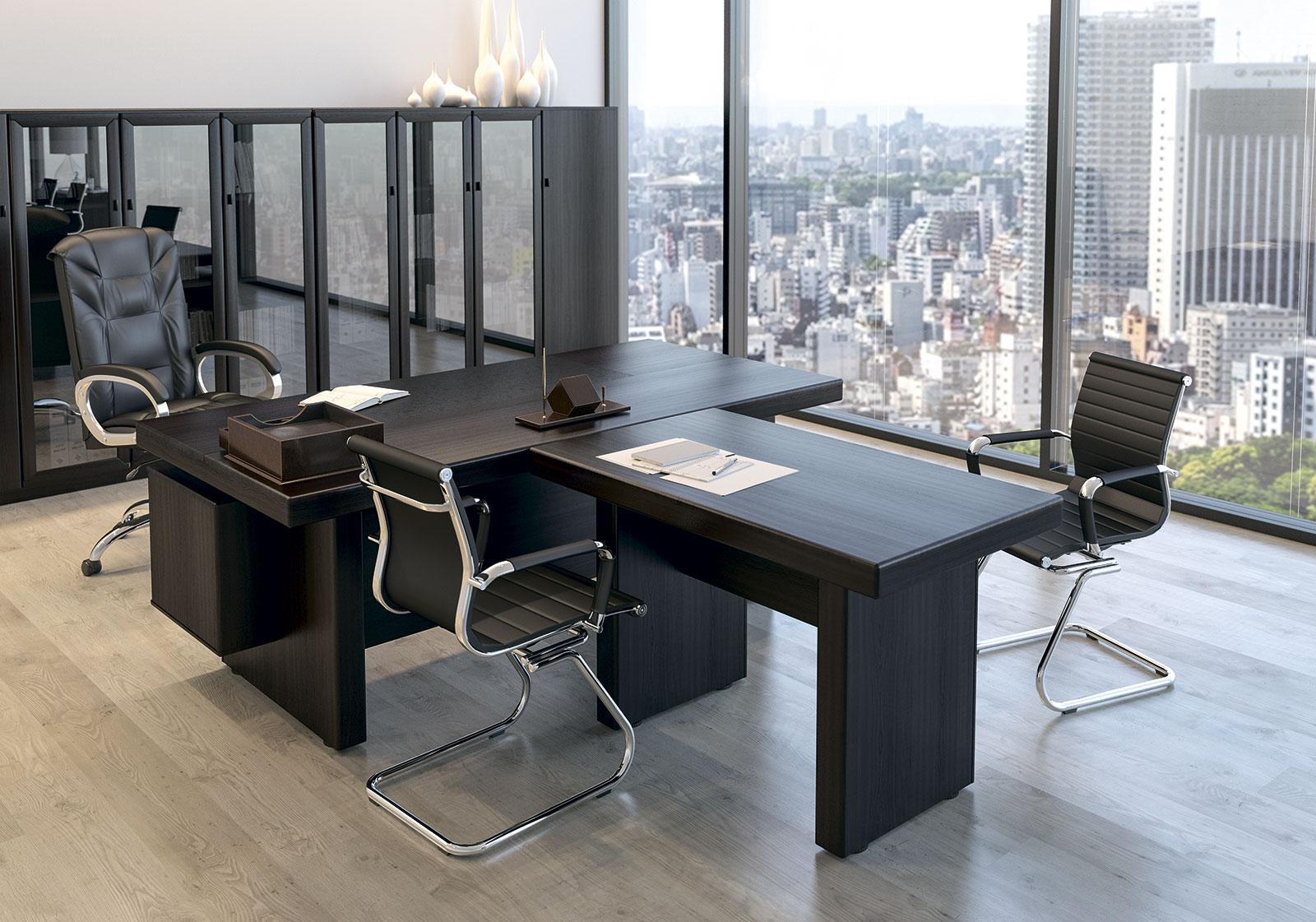 Дизайн интерьера кабинета руководителя венге