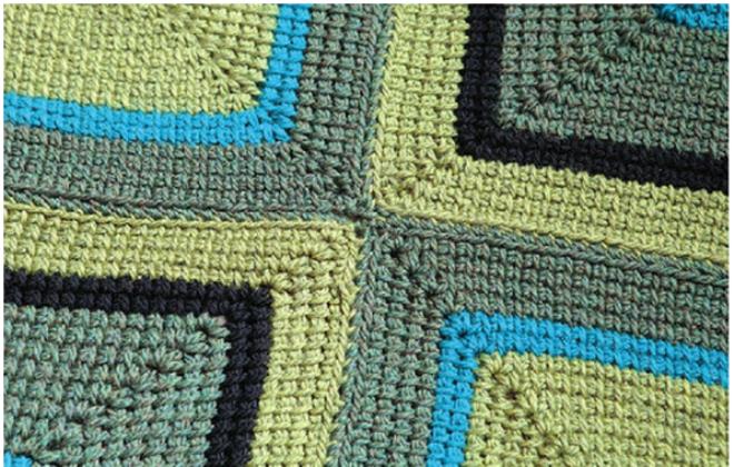 Большой ковер: тунисское вязание