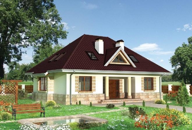 Четырехскатная крыша для мансарды