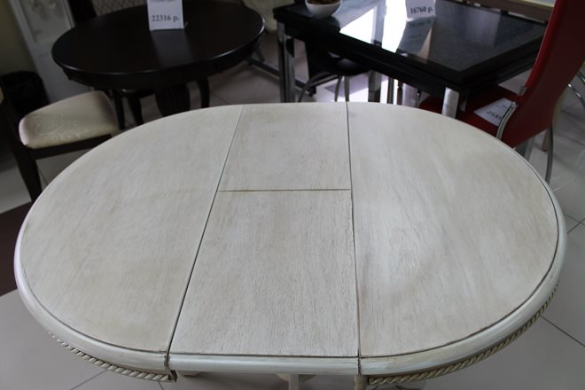 Круглая форма столешницы