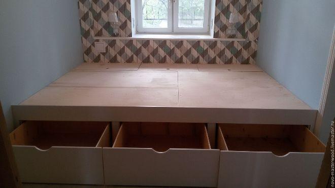 Подиум с ящиками или скрытой системой хранения