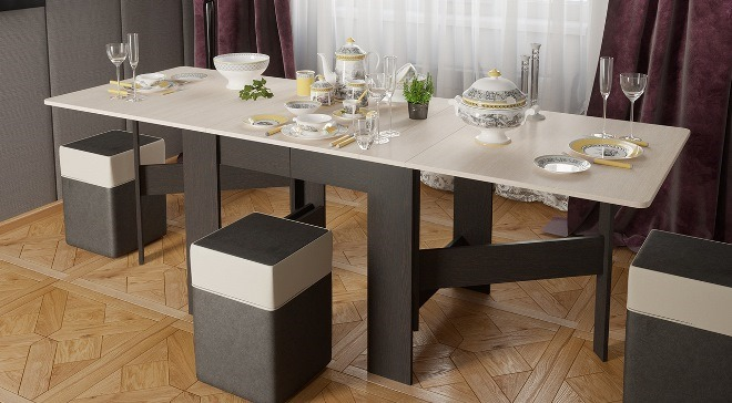 Виды обеденных столов