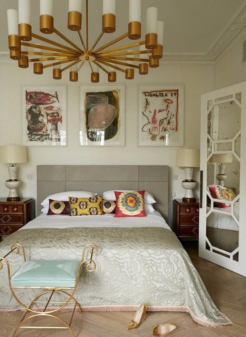 Дизайн спальни 18 кв м эклектичный
