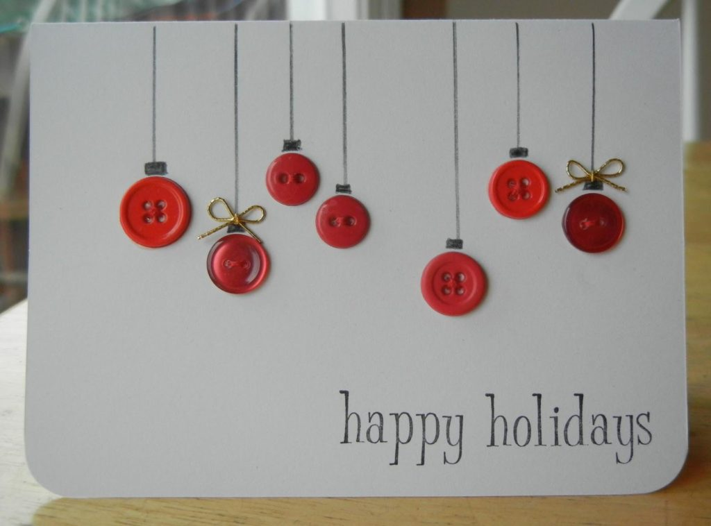 открытка из пуговиц к новому году вещество имеет