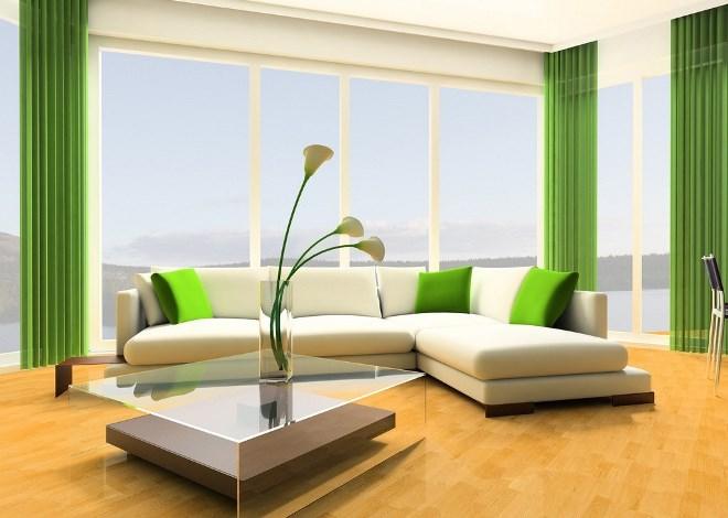 Бело-зеленый цвет в интерьере