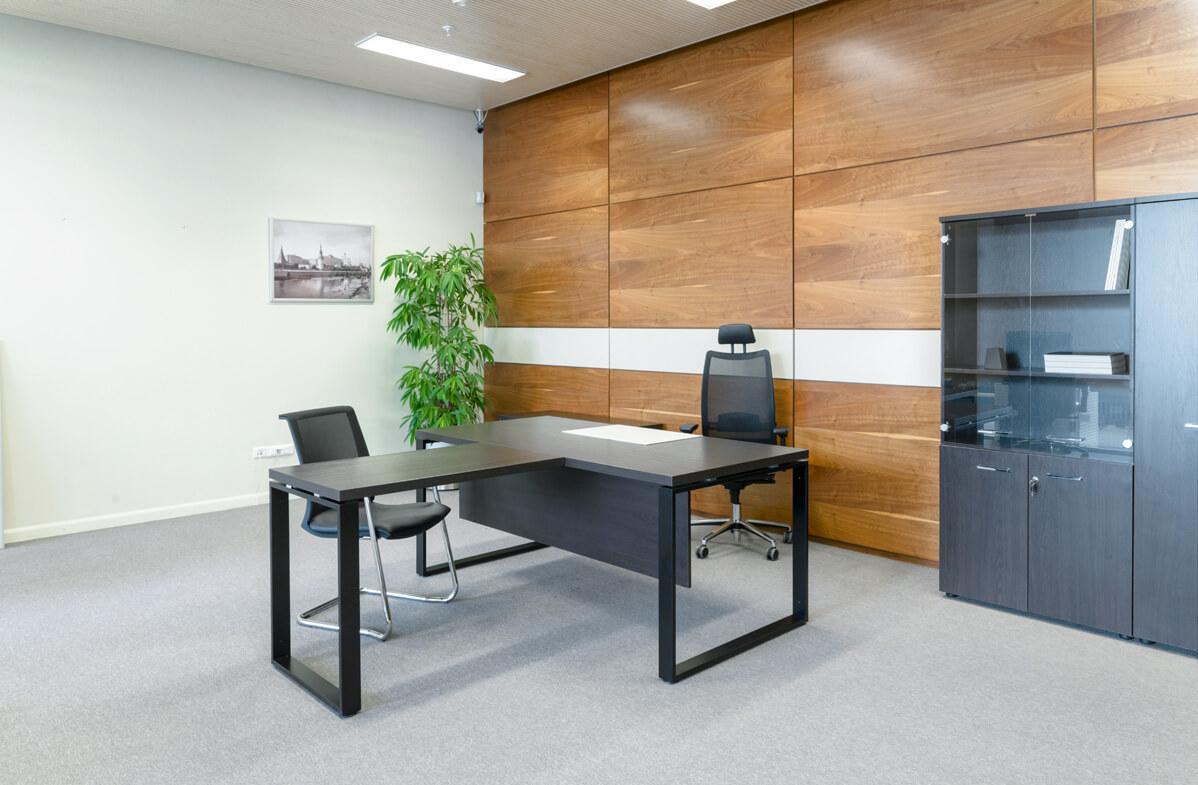 Дизайн интерьера кабинета руководителя просторный