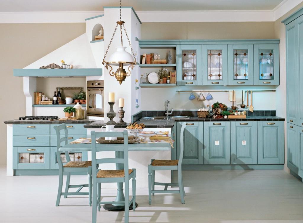 Кухня в деревенском итальянском стиле