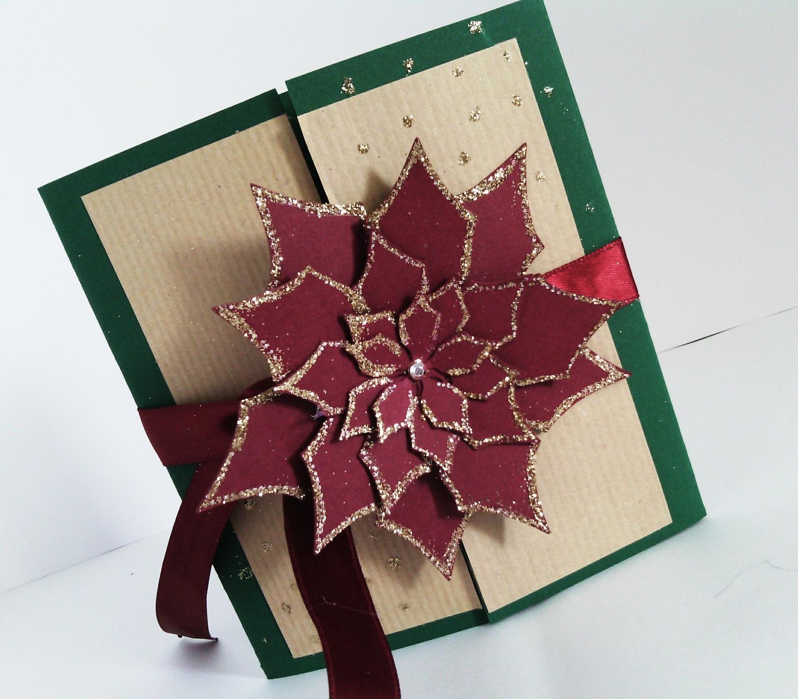 Новогодняя открытка с цветком