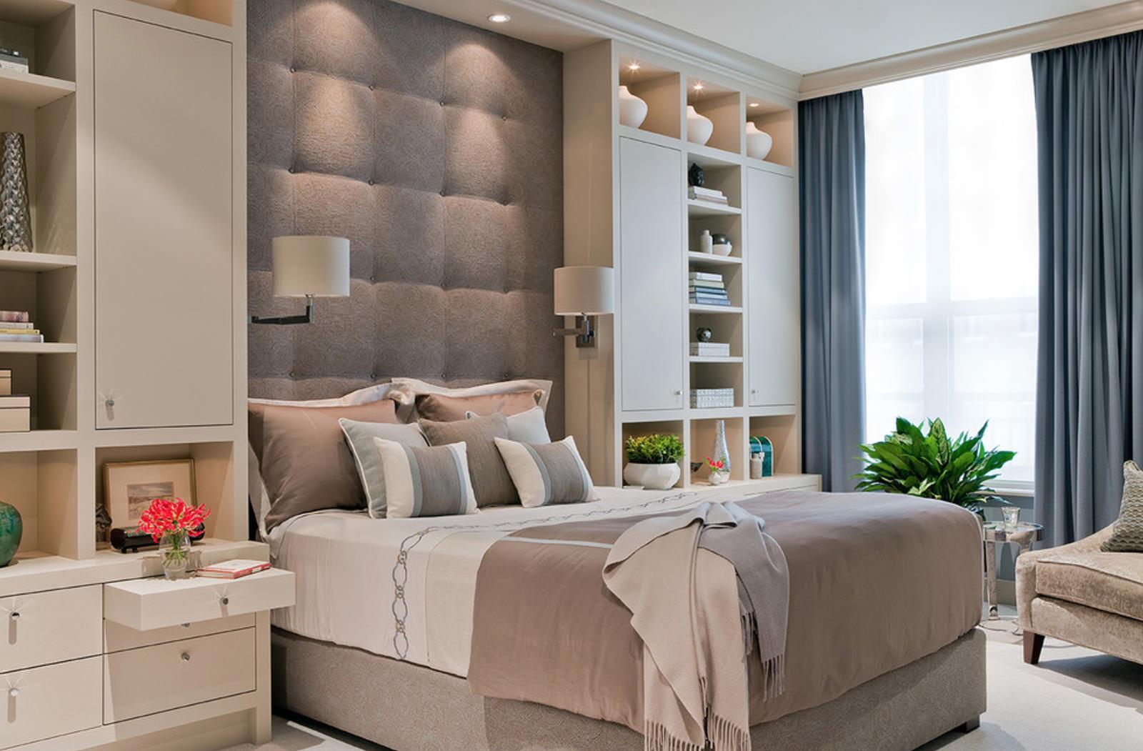 Теплые цвета делают спальню уютной