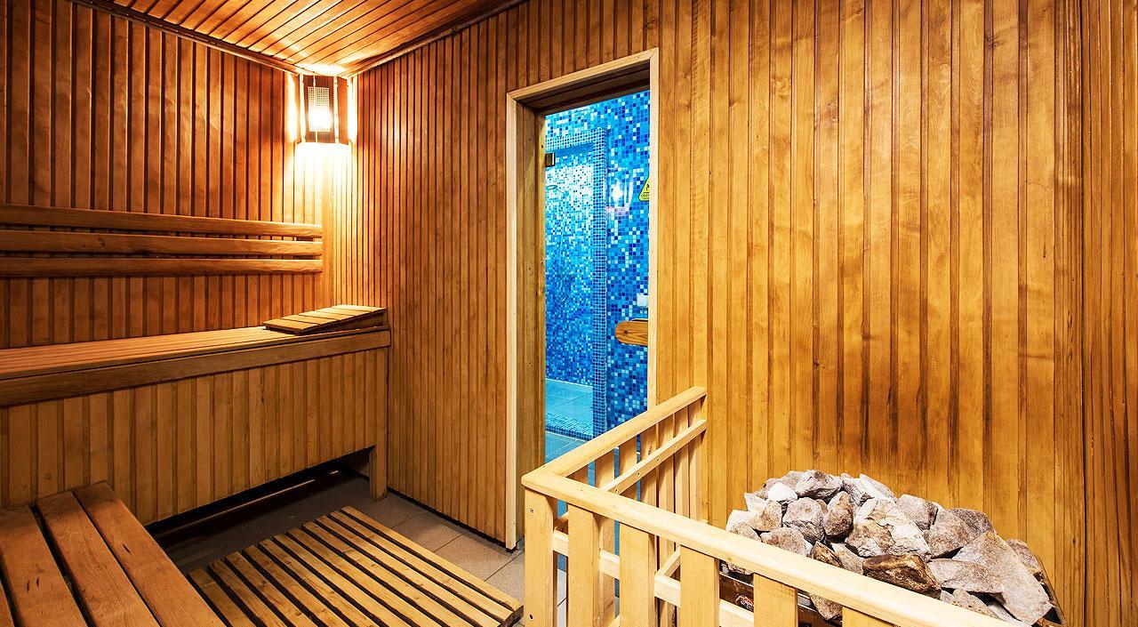 Интерьер бани с каменкой