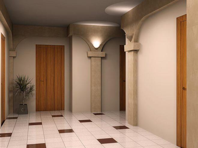 Цвет плитки для коридора