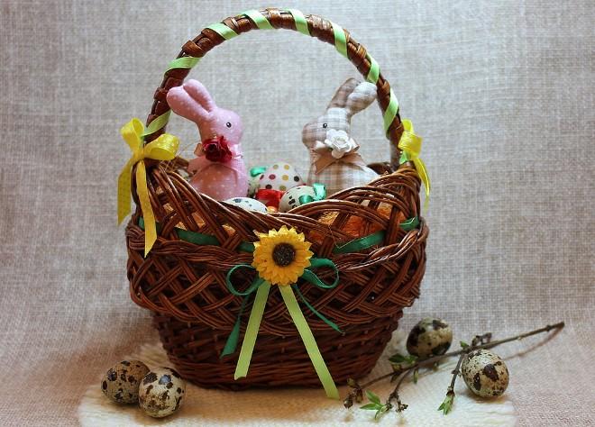 Декоративные корзины на Пасху