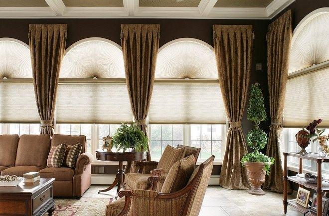 Декор и текстиль для оформления панорамных окон