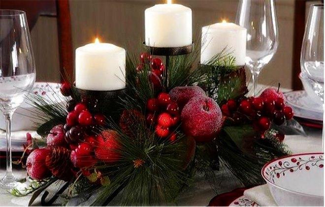 Новогодний декор свечек
