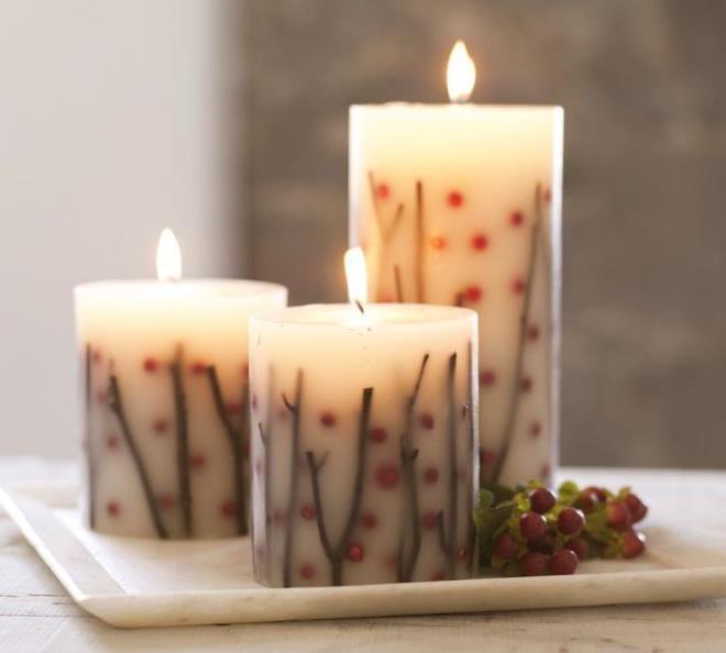 Идеи для декора свечей своими руками