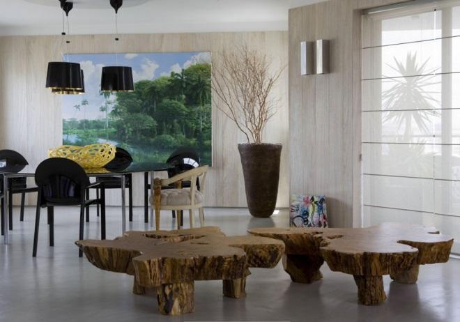 Дерево в стилистике интерьера
