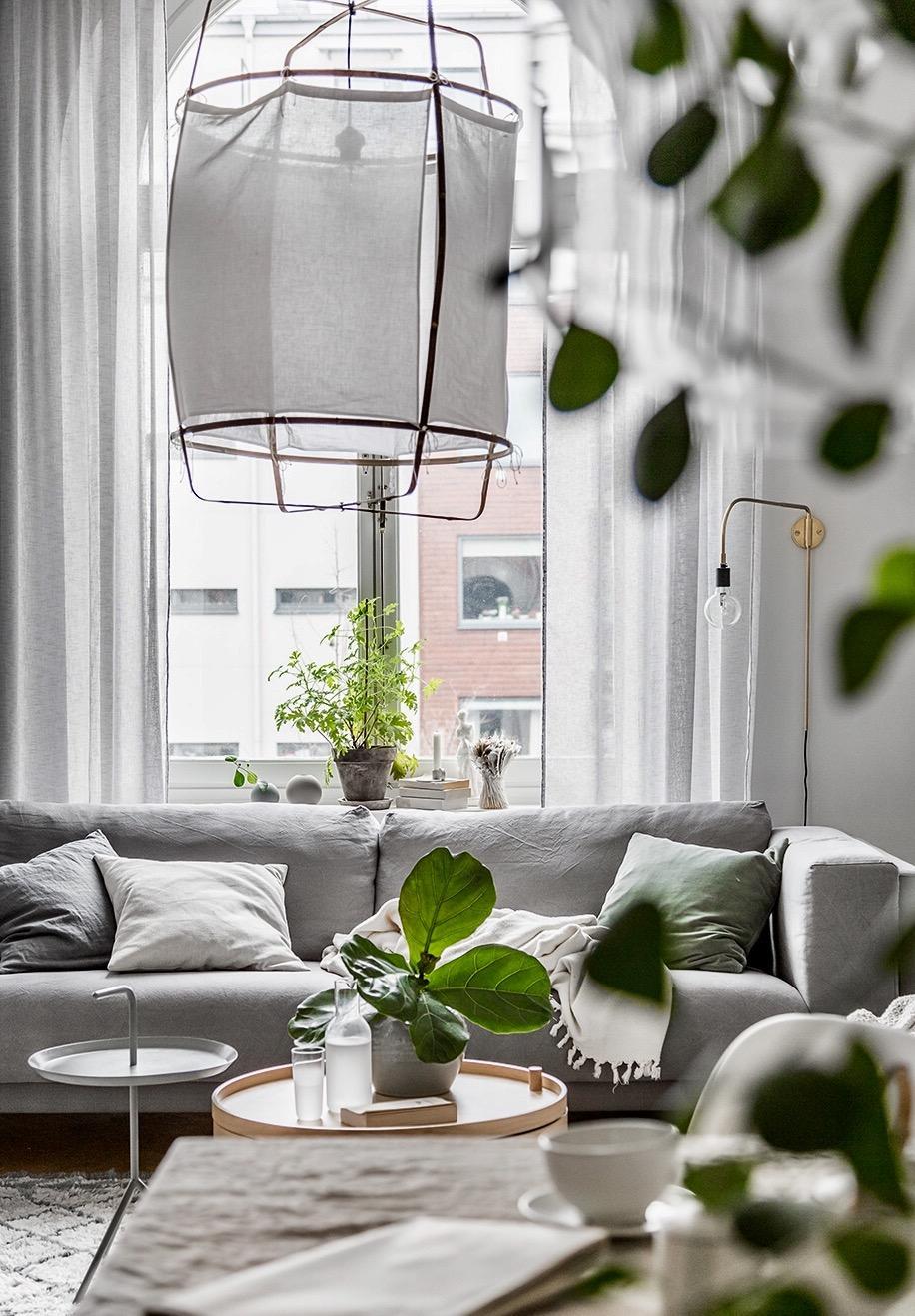 Обстановка однокомнатной квартиры в скандинавском стиле