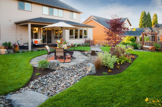 Планировка двора частного дома
