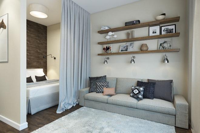 Дизайн спальни 16 кв. м