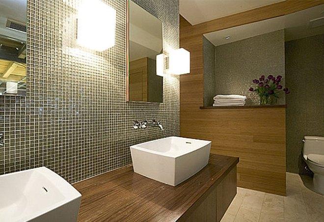 Освещение небольшой ванной комнаты