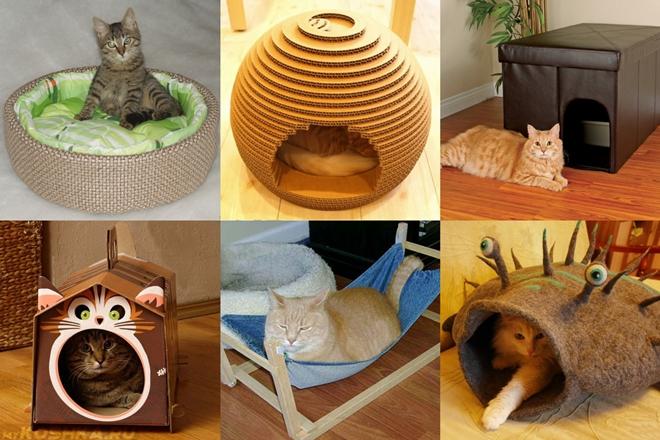 Как сделать домик для кошки из подручных средств