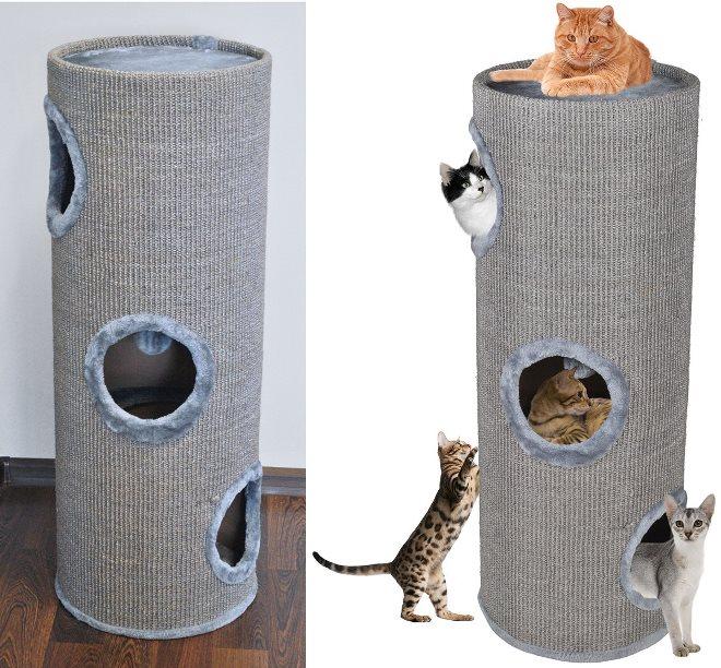 Домик для кота из трубы