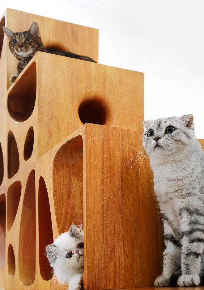 Оригинальная мебель для кошки