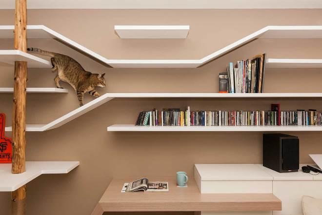 Подвесной кошачий дом и полочки