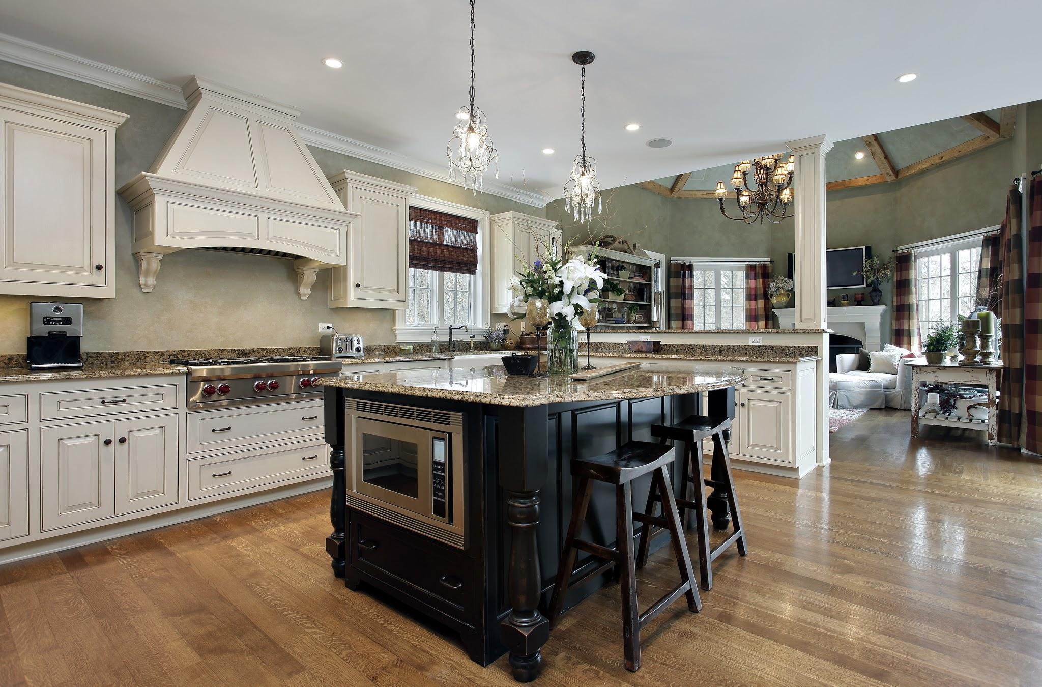 Кухня классическая в частном доме 2017