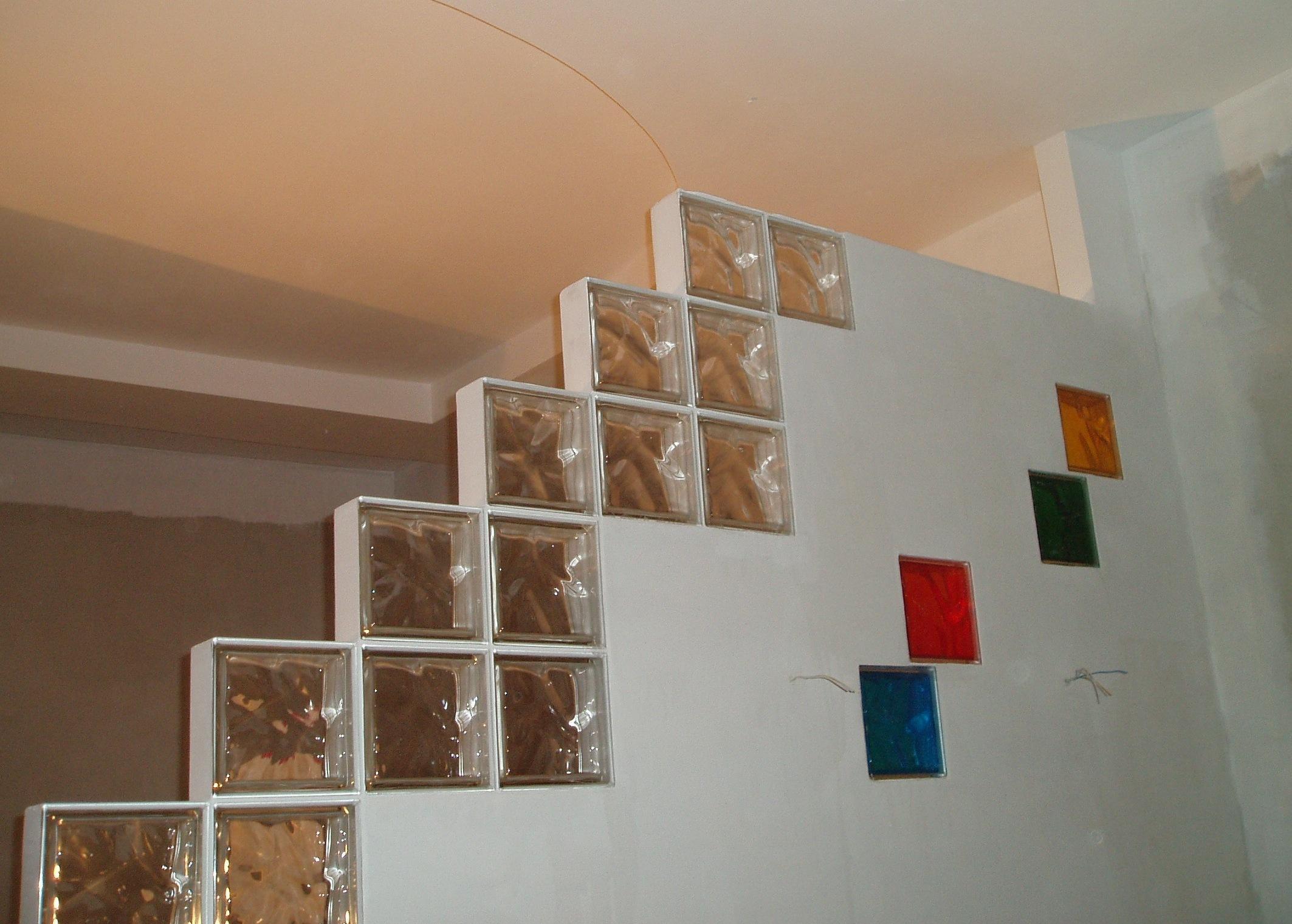 Перегородка из гипсокартона со стеклоблоками