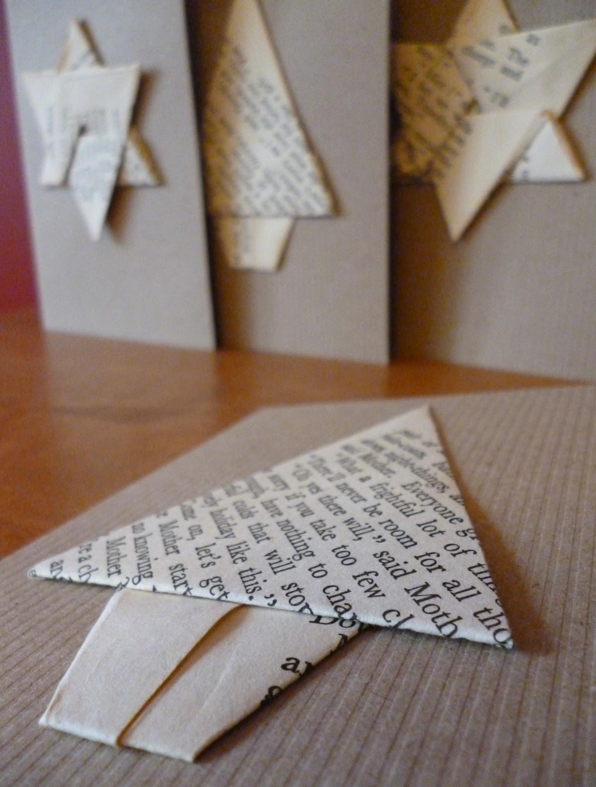Новогодняя открытка оригами