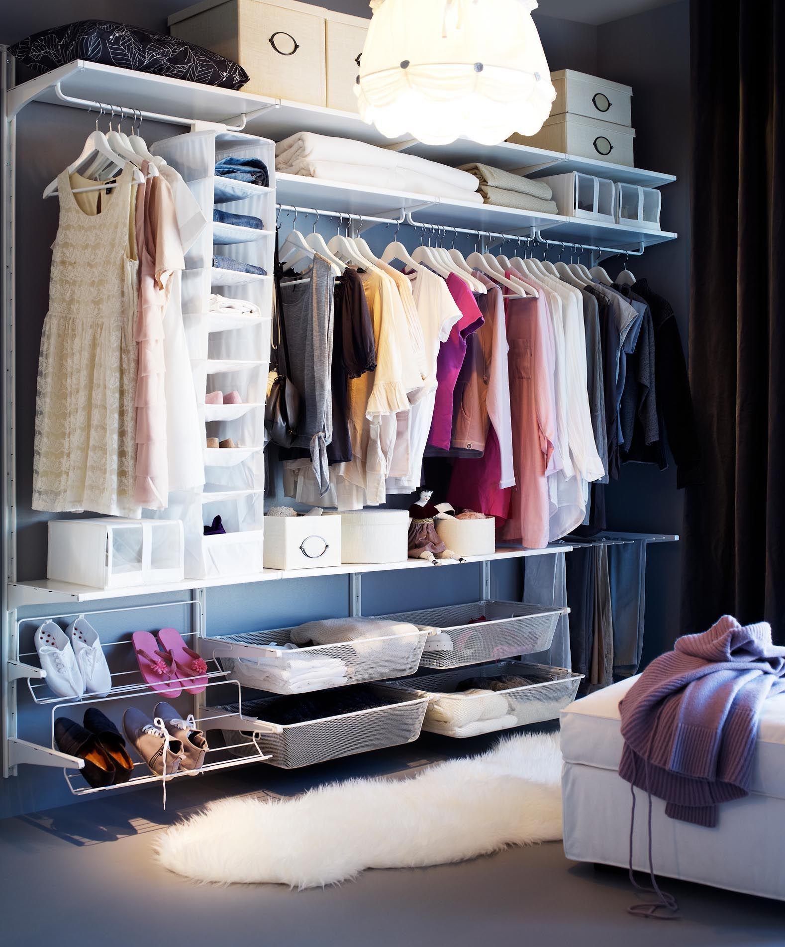 Организация гардеробной в детской комнате
