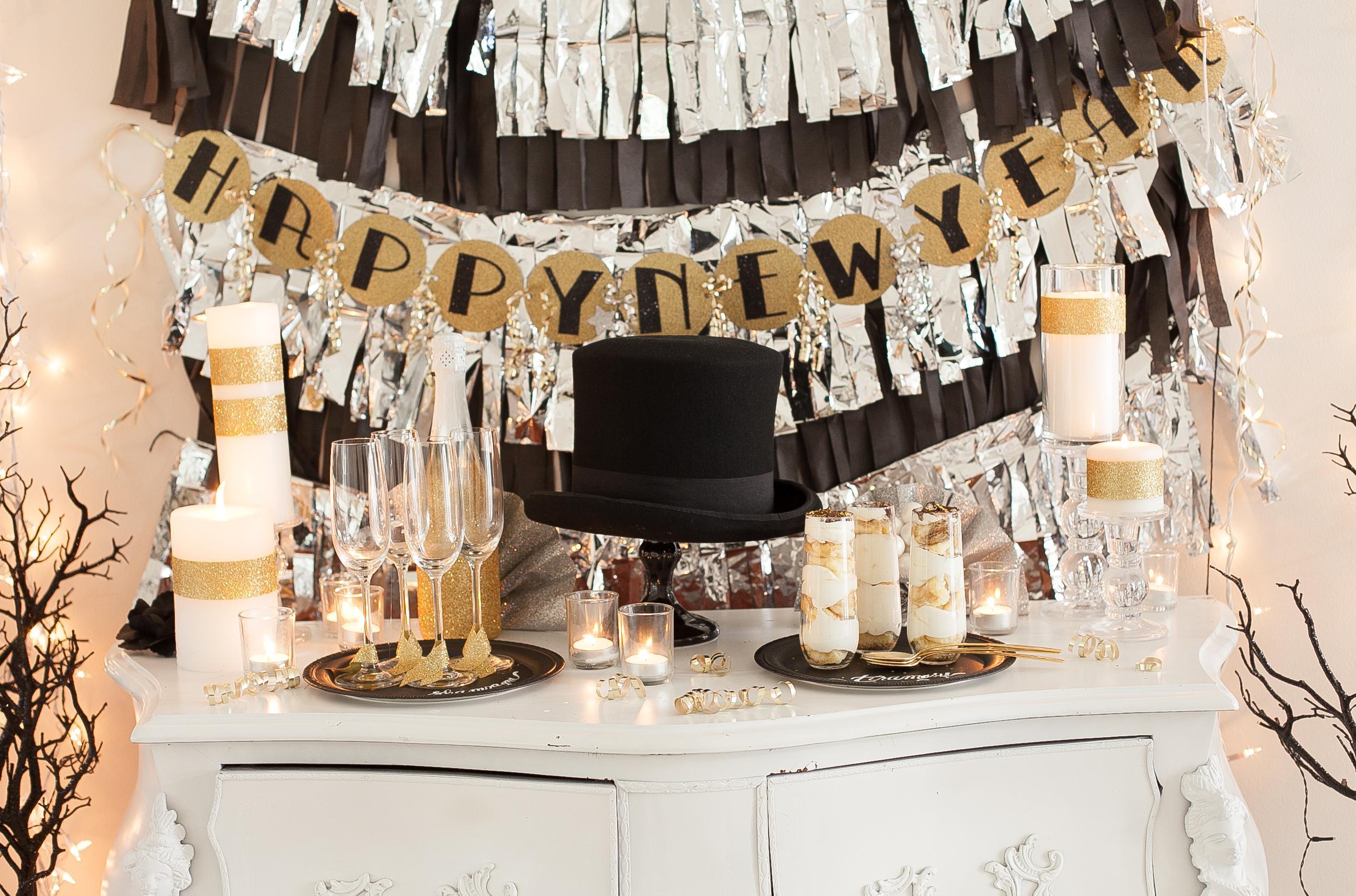 Новогодний декор квартиры на вечеринку