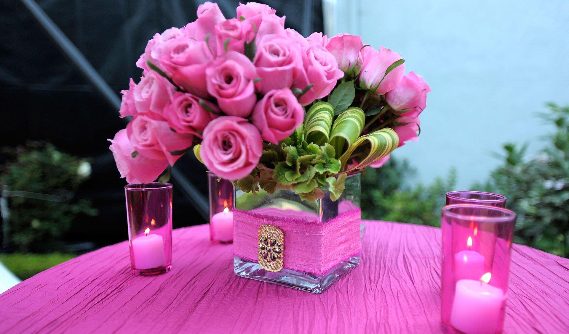 Живые розы в интерьере